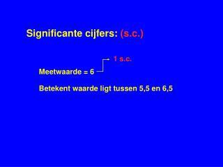 Significante cijfers:  (s.c.)