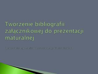 Co to jest bibliografia?