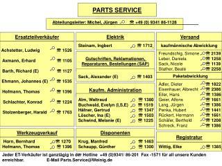 Abteilungsleiter: Michel, J�rgen           ?  +49 (0) 9341 86-1128