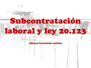 Subcontrataci�n laboral y ley 20.123 alfonso hern�ndez  molina