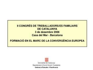 II CONGR S DE TREBALLADORS