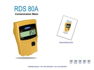 RDS 80A Contamination Meter