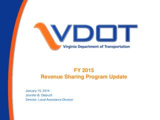 FY 2015  Revenue Sharing Program Update