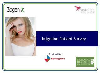 Migraine Patient Survey