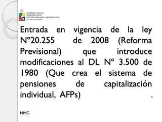 UNIVERSIDAD DE CHILE FACULTAD DE ARTES DIRECCION ECONOMICA Y ADMINISTRATIVA OFICINA DE PERSONAL