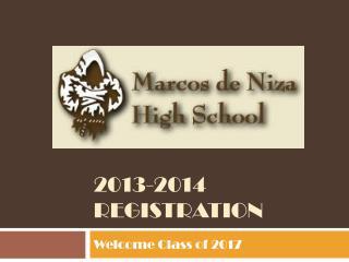 2013-2014 registration