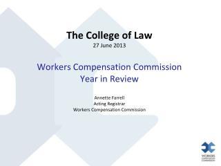 Brief overview of 2012 amendments Commission Jurisdiction post 2012 amendments