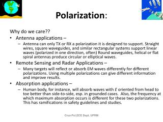Polarization :