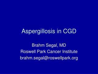 Aspergillosis in CGD