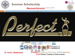Summer Scholarship Mansoura University Summer 2011