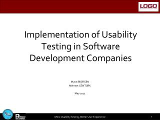 Implementation of Usability Testing in Software Development Companies