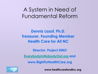 A System in Need of Fundamental Reform