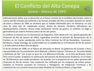 El Conflicto del Alto Cenepa (enero – febrero de 1995)