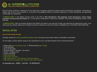 SPECIAL OFFER  Start-Up Web Design Package