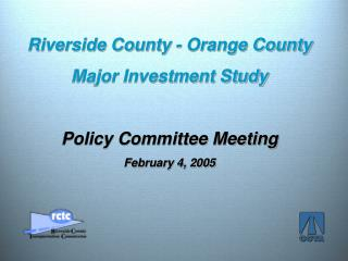 Riverside County -  Orange County