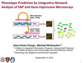 Phenotype Prediction by Integrative Network Analysis of SNP and Gene Expression Microarrays