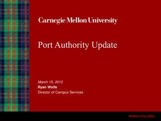 Port Authority Update