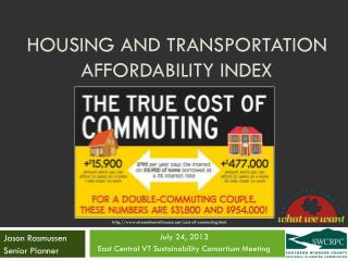 Housing and Transportation Affordability INDEX