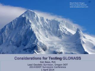 Considerations for Testing  GLONASS