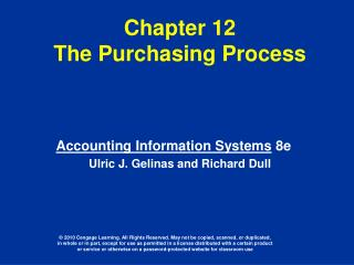 Chapter 12  The Purchasing Process