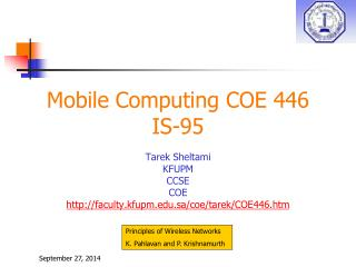 Mobile Computing COE 446 IS-95