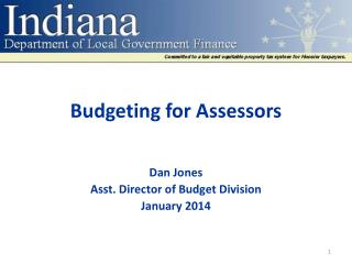 Budgeting for  Assessors