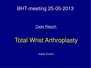 BHT-meeting 25-05-2013
