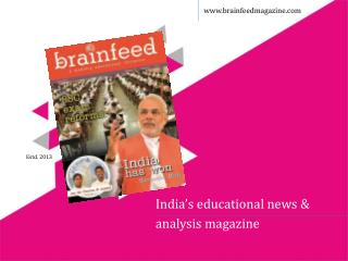 India's educational news &  analysis magazine
