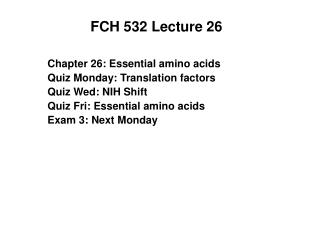 FCH 532 Lecture 26