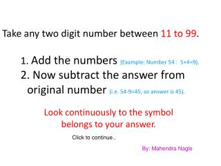 Look continuously to the symbol belongs to your answer.