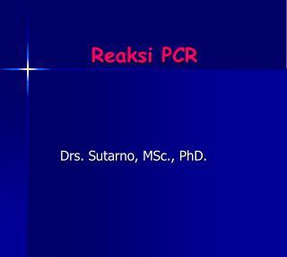 Reaksi PCR