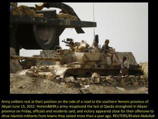 Yemen army captures Al-Qaida stronghold