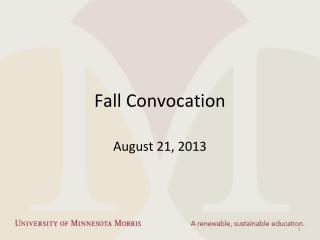 Fall Convocation