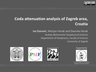 Coda attenuation analysis of Zagreb area,  Croatia