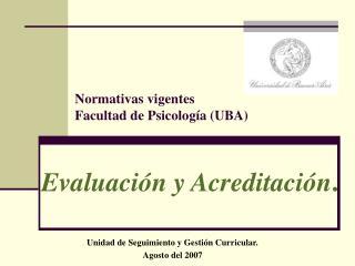 Evaluación y Acreditación .