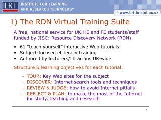 1 The RDN Virtual Training Suite