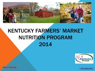 Kentucky Farmers' Market Nutrition Program 2014
