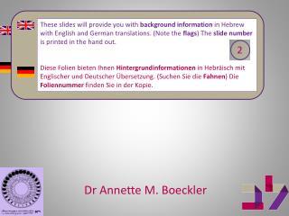 Dr Annette M.  Boeckler