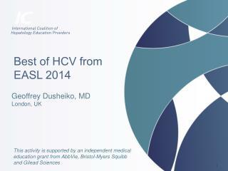 Best of HCV from  EASL 2014