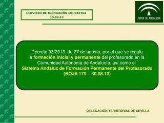 SERVICIO DE INSPECCIÓN EDUCATIVA 13.09.13