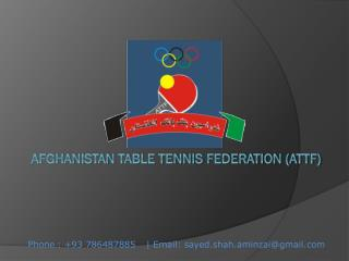 Afghanistan Table Tennis Federation (ATTF)
