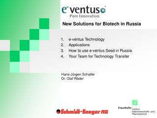 e-ventus Technology Applications How to use e-ventus Seed in Russia