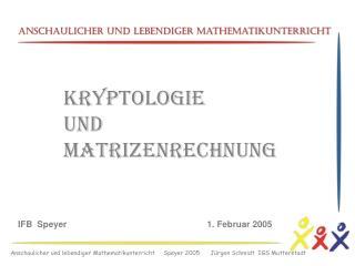 Anschaulicher und lebendiger Mathematikunterricht     Speyer 2005      J rgen Schmidt  IGS Mutterstadt