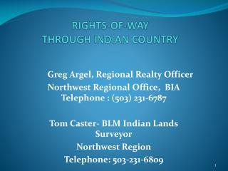 RIGHTS-OF-WAY THROUGH INDIAN COUNTRY