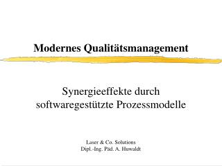 Modernes Qualit�tsmanagement
