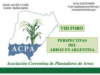 Asociaci�n Correntina de Plantadores de Arroz