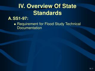 IV. Overview Of State Standards
