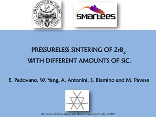 PRESSURELESS SINTERING OF ZrB 2 WITH DIFFERENT AMOUNTS OF  SiC.