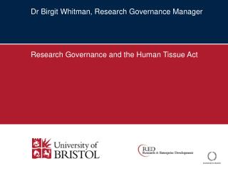 Dr Birgit Whitman, Research Governance Manager