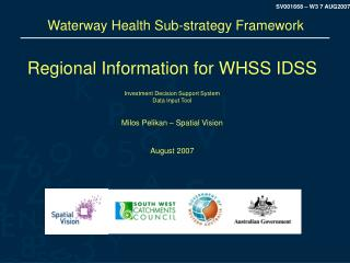 Waterway Health Sub-strategy Framework